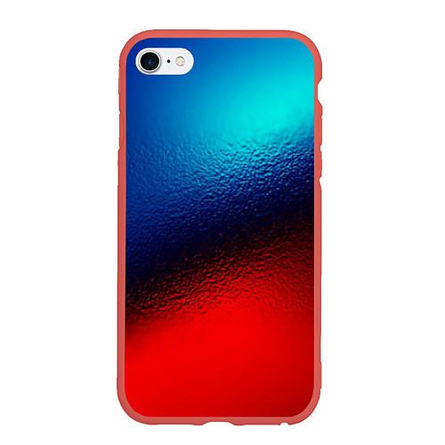 Чехол iPhone 6 Plus/6S Plus матовый Синий и красный / 3D-Красный – фото 1