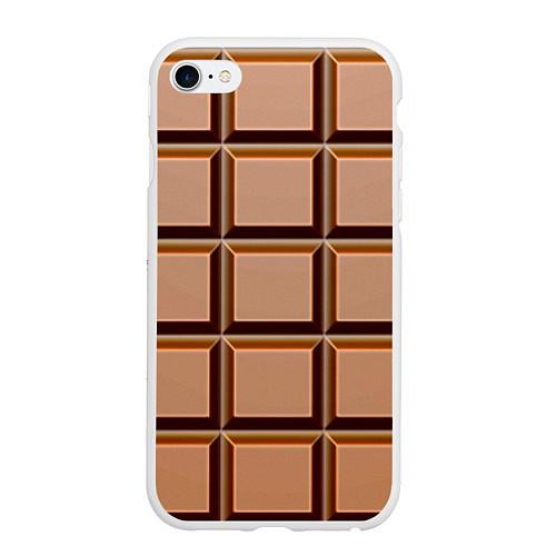Чехол iPhone 6 Plus/6S Plus матовый Шоколад / 3D-Белый – фото 1