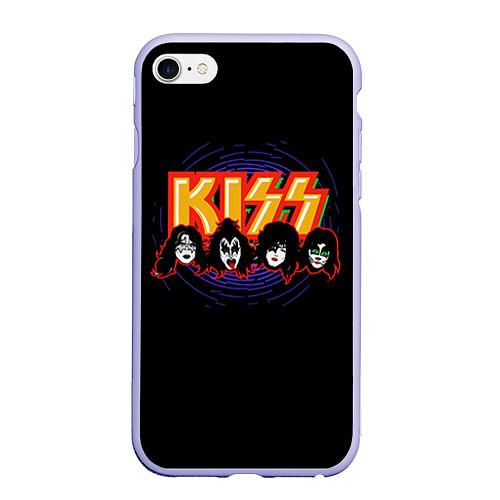 Чехол iPhone 6 Plus/6S Plus матовый KISS: Death Faces / 3D-Светло-сиреневый – фото 1