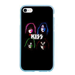 Чехол iPhone 6/6S Plus матовый KISS: Acid Colours цвета 3D-голубой — фото 1