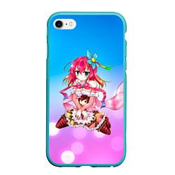 Чехол iPhone 6/6S Plus матовый No Game No Life цвета 3D-мятный — фото 1