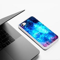 Чехол iPhone 6/6S Plus матовый Голубая вселенная цвета 3D-белый — фото 2