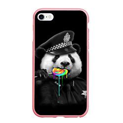Чехол iPhone 6/6S Plus матовый Панда с карамелью цвета 3D-баблгам — фото 1