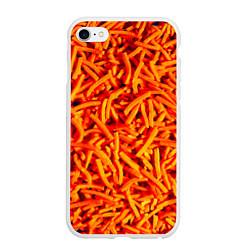 Чехол iPhone 6/6S Plus матовый Морковь цвета 3D-белый — фото 1
