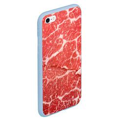 Чехол iPhone 6/6S Plus матовый Кусок мяса цвета 3D-голубой — фото 2