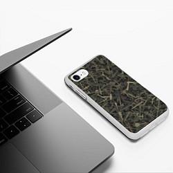 Чехол iPhone 7/8 матовый Камуфляж с холодным оружием цвета 3D-белый — фото 2
