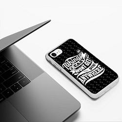 Чехол iPhone 7/8 матовый Taking It Easy цвета 3D-белый — фото 2