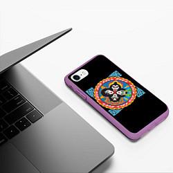 Чехол iPhone 7/8 матовый KISS: Over цвета 3D-фиолетовый — фото 2