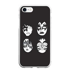 Чехол iPhone 7/8 матовый KISS Mask цвета 3D-белый — фото 1