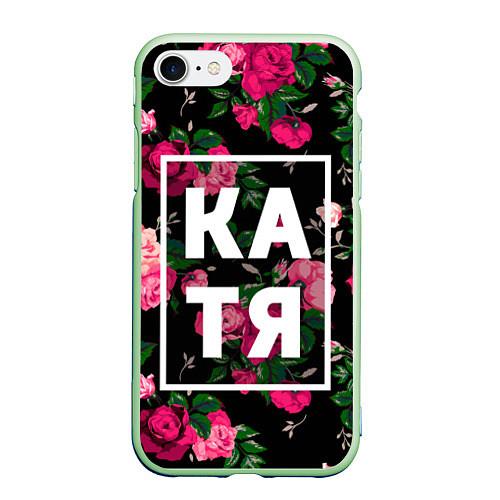 Чехол iPhone 7/8 матовый Катя / 3D-Салатовый – фото 1