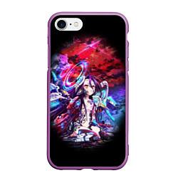 Чехол iPhone 7/8 матовый No Game No Life Zero цвета 3D-фиолетовый — фото 1