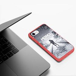 Чехол iPhone 7/8 матовый Metro Exodus цвета 3D-красный — фото 2