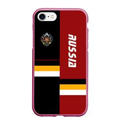 Чехол iPhone 7/8 матовый Russian Empire цвета 3D-малиновый — фото 1