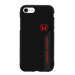 Чехол iPhone 7/8 матовый Honda: Sport Line цвета 3D-черный — фото 1