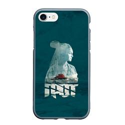 Чехол iPhone 7/8 матовый Drummatix Vega цвета 3D-серый — фото 1