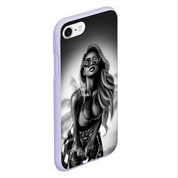 Чехол iPhone 7/8 матовый Trap Girl цвета 3D-светло-сиреневый — фото 2