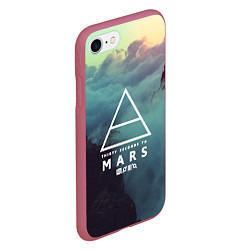 Чехол iPhone 7/8 матовый 30 STM: Dark Heaven цвета 3D-малиновый — фото 2