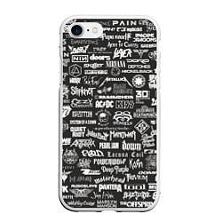 Чехол iPhone 7/8 матовый Rock Star цвета 3D-белый — фото 1