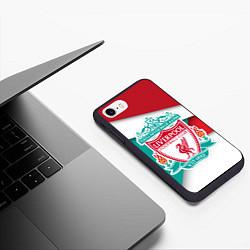 Чехол iPhone 7/8 матовый FC Liverpool цвета 3D-черный — фото 2