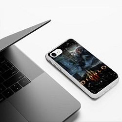 Чехол iPhone 7/8 матовый Diablo III: Catacombs цвета 3D-белый — фото 2