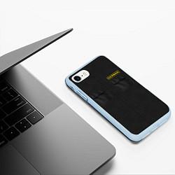 Чехол iPhone 7/8 матовый Настоящий охраник цвета 3D-голубой — фото 2