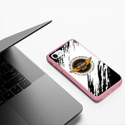 Чехол iPhone 7/8 матовый Harley Davidson цвета 3D-баблгам — фото 2