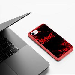 Чехол iPhone 7/8 матовый SLIPKNOT цвета 3D-красный — фото 2