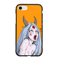 Чехол iPhone 7/8 матовый Ahegao Kaguya цвета 3D-черный — фото 1