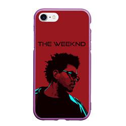 Чехол iPhone 7/8 матовый The weeknd цвета 3D-фиолетовый — фото 1