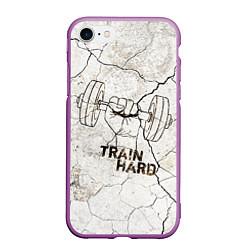 Чехол iPhone 7/8 матовый Train hard