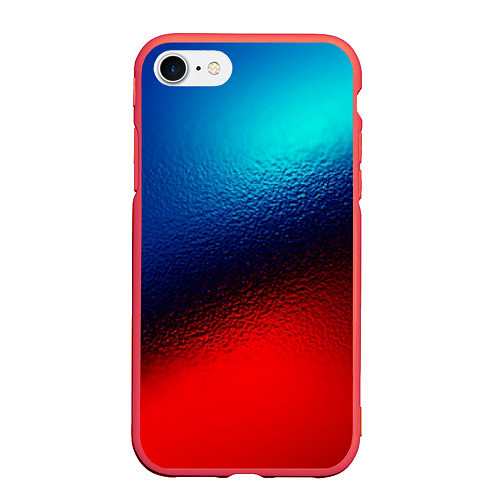 Чехол iPhone 7/8 матовый Синий и красный / 3D-Красный – фото 1