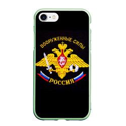 Чехол iPhone 7/8 матовый ВС России: вышивка