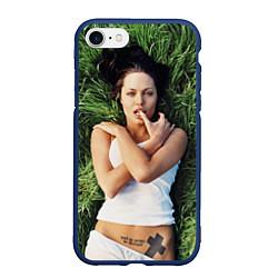 Чехол iPhone 7/8 матовый Анджелина Джоли
