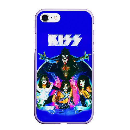Чехол iPhone 7/8 матовый Kiss Show / 3D-Светло-сиреневый – фото 1