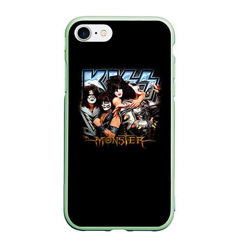 Чехол iPhone 7/8 матовый Kiss Monster / 3D-Салатовый – фото 1