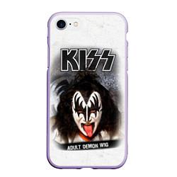 Чехол iPhone 7/8 матовый KISS: Adult demon wig