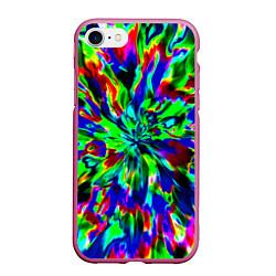 Чехол iPhone 7/8 матовый Оксид красок цвета 3D-малиновый — фото 1