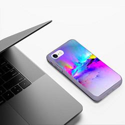 Чехол iPhone 7/8 матовый Абстракция цвета 3D-серый — фото 2