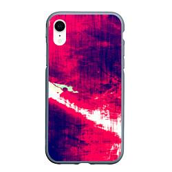 Чехол iPhone XR матовый Брызги красок цвета 3D-серый — фото 1