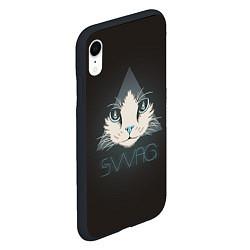 Чехол iPhone XR матовый Cat цвета 3D-черный — фото 2