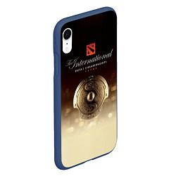 Чехол iPhone XR матовый The International Championships цвета 3D-тёмно-синий — фото 2