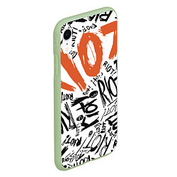 Чехол iPhone XR матовый Paramore: Riot цвета 3D-салатовый — фото 2