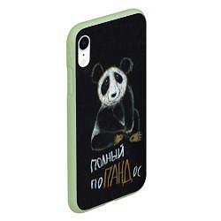 Чехол iPhone XR матовый Полный поПАНДос цвета 3D-салатовый — фото 2