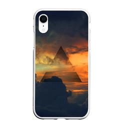 Чехол iPhone XR матовый 30 seconds to mars цвета 3D-белый — фото 1