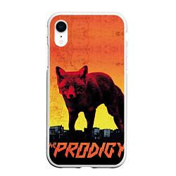 Чехол iPhone XR матовый The Prodigy: Red Fox цвета 3D-белый — фото 1