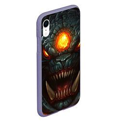 Чехол iPhone XR матовый Roshan Rage цвета 3D-серый — фото 2