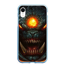 Чехол iPhone XR матовый Roshan Rage цвета 3D-голубой — фото 1