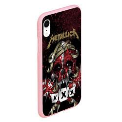 Чехол iPhone XR матовый Metallica: XXX цвета 3D-баблгам — фото 2