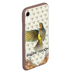 Чехол iPhone XR матовый Imagine Dragons: Fly цвета 3D-коричневый — фото 2