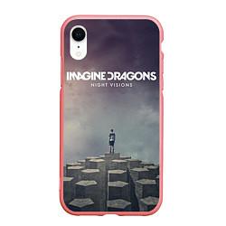 Чехол iPhone XR матовый Imagine Dragons: Night Visions цвета 3D-баблгам — фото 1